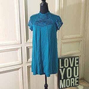 🛍Closet Clearout Sale 🛍Teal Short Lace Dress S